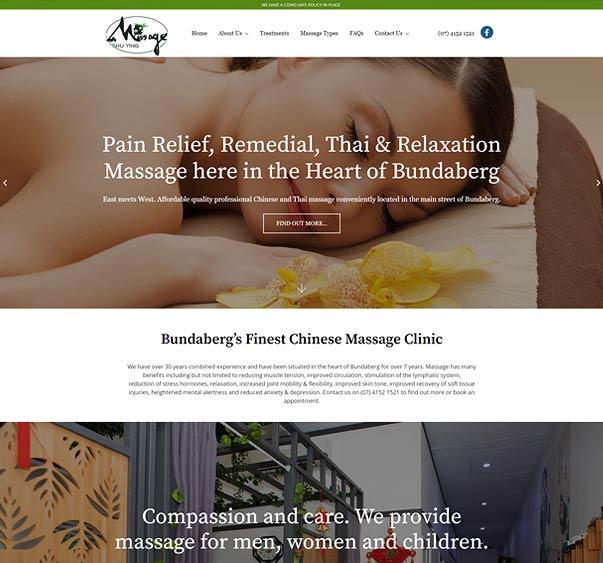 Massage - website design